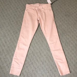 NWT blush pink jeans size25